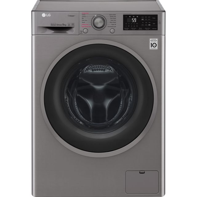 LG J6 F4J609SS 9Kg Washing Machine with 1400 rpm - Graphite - A+++ Rated - F4J609SS_GH - 1