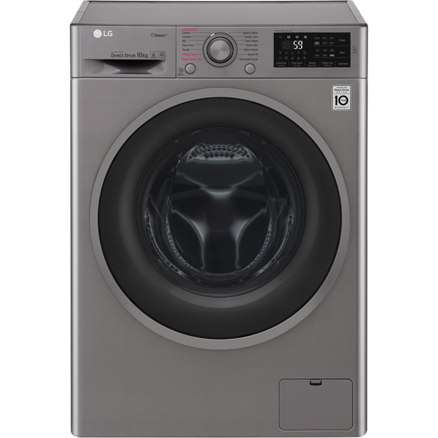 LG J6 F4J610SS 10Kg Washing Machine with 1400 rpm - Graphite - A+++ Rated - F4J610SS_GH - 1