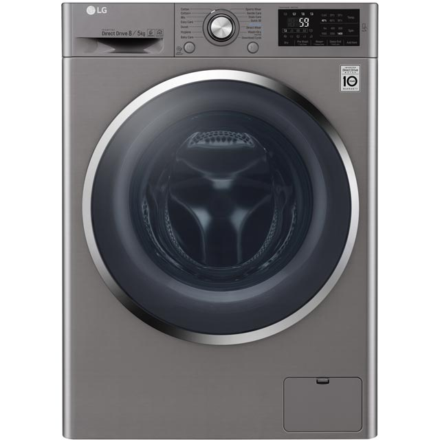 LG F4J6AM2S Free Standing Washer Dryer in Graphite