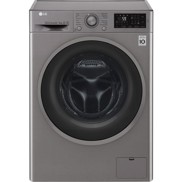 LG F4J6AM8S 8Kg / 4Kg Washer Dryer with 1400 rpm - Steel