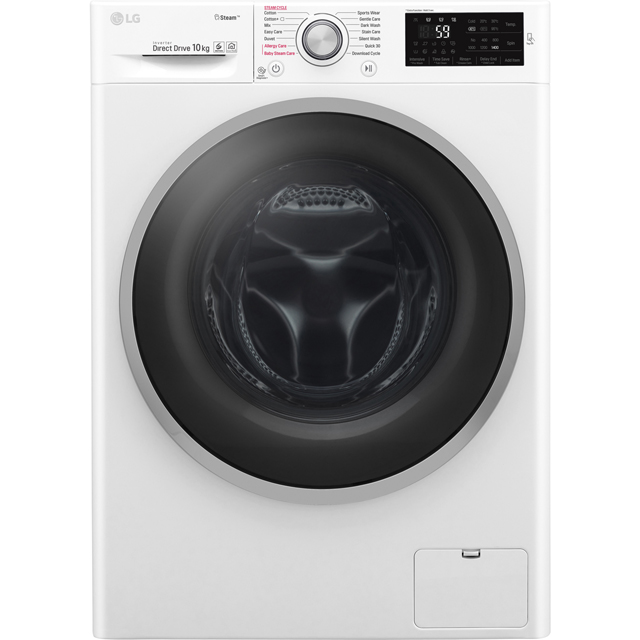 LG Steam™ F4J6JY1W 10Kg Washing Machine with 1400 rpm - White - A+++ Rated - F4J6JY1W_WH - 1