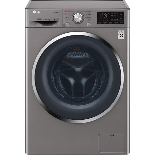LG Steam™ F4J6JY2S 10Kg Washing Machine with 1400 rpm - Graphite - A+++ Rated