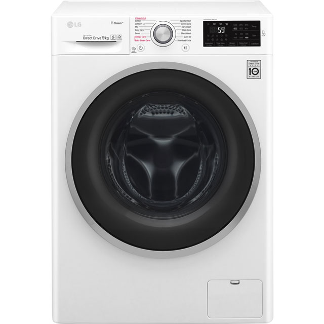 LG Steam™ 9Kg Washing Machine - White - A+++ Rated