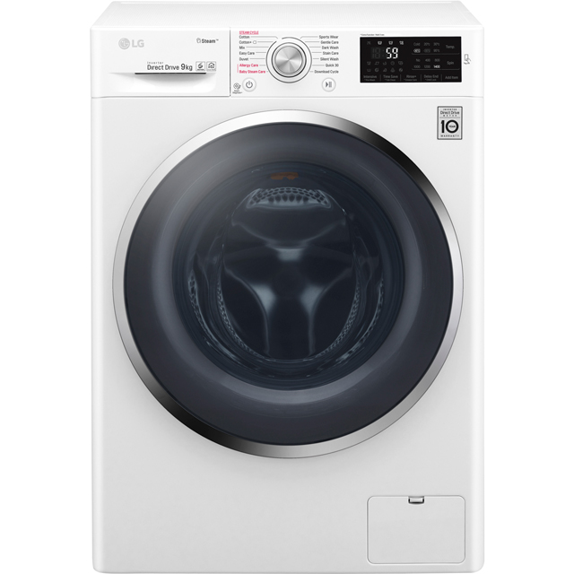 LG Steam™ Free Standing Washing Machine in White