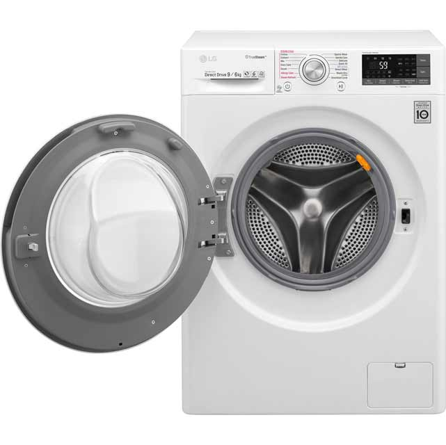 LG Eco Hybrid™ With TrueSteam™ F4J8FH2W Washer Dryer - White - F4J8FH2W_WH - 2