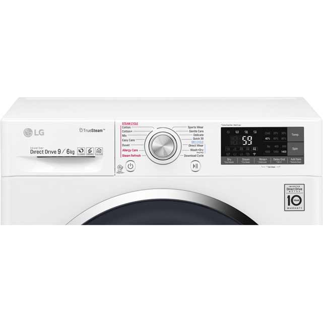 LG Eco Hybrid™ With TrueSteam™ F4J8FH2W Washer Dryer - White - F4J8FH2W_WH - 3