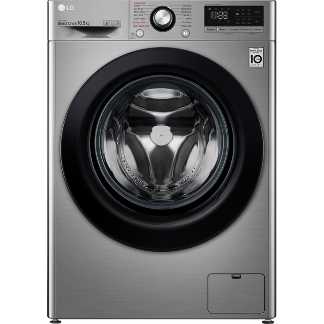 LG V3 F4V310SSE 10.5Kg Washing Machine with 1400 rpm - Graphite - A+++ Rated