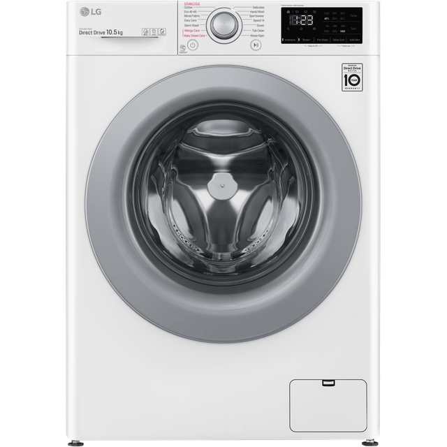 LG V3 F4V310WSE 10.5Kg Washing Machine with 1400 rpm - White - A+++ Rated