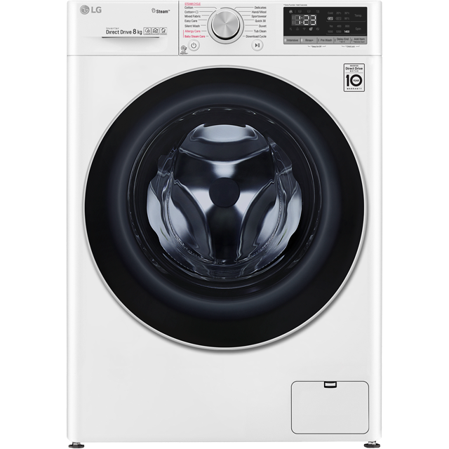 LG V5 F4V508WS Wifi Connected 8Kg Washing Machine with 1400 rpm - White - A+++ Rated - F4V508WS_WH - 1