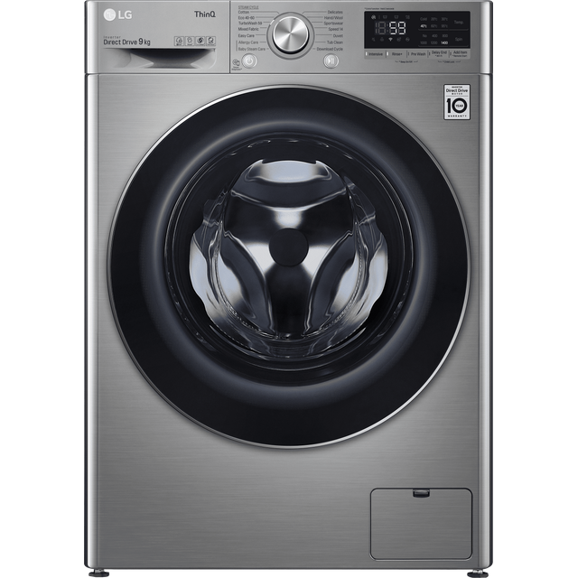 LG V7 F4V709STSE Wifi Connected 9Kg Washing Machine with 1400 rpm - Graphite - A+++ Rated - F4V709STSE_GH - 1