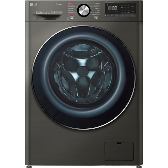 LG Vivace F4V909BTS Wifi Connected 9Kg Washing Machine with 1400 rpm - Black Steel - A+++ Rated - F4V909BTS_BSS - 1