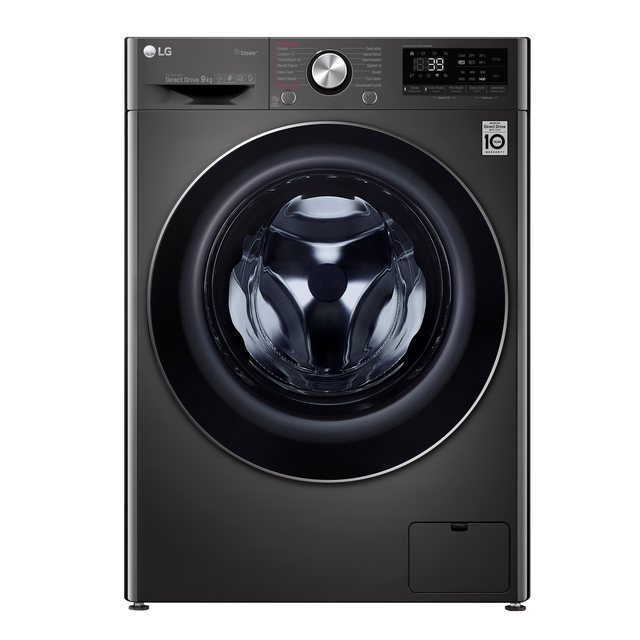LG V9 F4V909BTS Wifi Connected 9Kg Washing Machine with 1400 rpm - Black Steel - A+++ Rated - F4V909BTS_BSS - 1