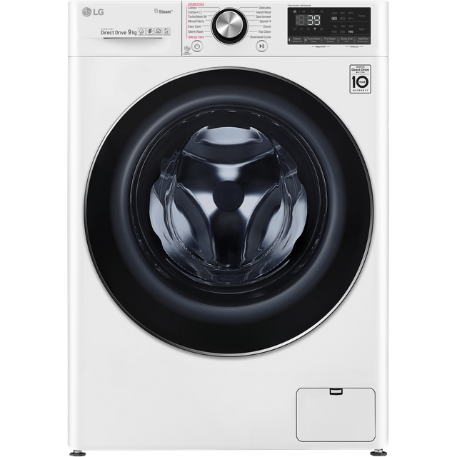 LG Vivace F4V909WTS Wifi Connected 9Kg Washing Machine with 1400 rpm - White - A+++ Rated - F4V909WTS_WH - 1