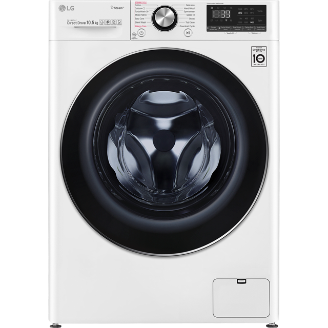 LG V9 F4V910WTS Wifi Connected 10.5Kg Washing Machine with 1400 rpm - White - A+++ Rated - F4V910WTS_WH - 1