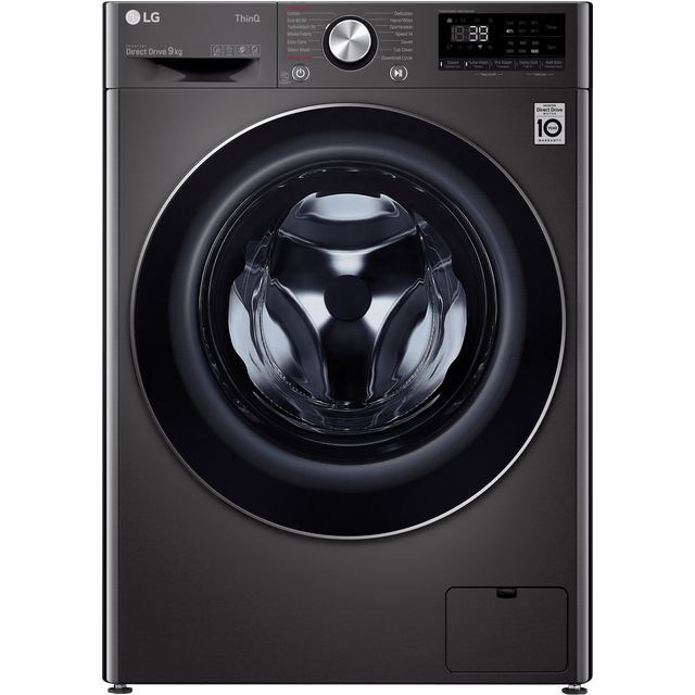 LG V10 F6V1009BTSE Wifi Connected 9Kg Washing Machine with 1600 rpm - Steel Black - A+++ Rated