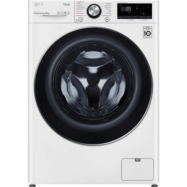 LG V10 F6V1009WTSE Wifi Connected 9Kg Washing Machine with 1600 rpm - White - A+++ Rated - F6V1009WTSE_WH - 1