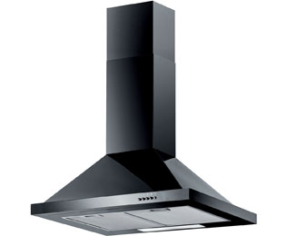 Baumatic F70.2BL 70 cm Chimney Cooker Hood - Black - E Rated - F70.2BL_BK - 1
