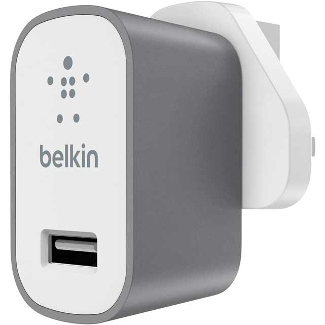 Belkin Computing Premium MixIt Mains Charger F8M731DRGRY Computing Cables & Adaptors in White
