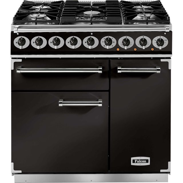 Falcon 900 DELUXE 90cm Dual Fuel Range Cooker - Black - A/A Rated
