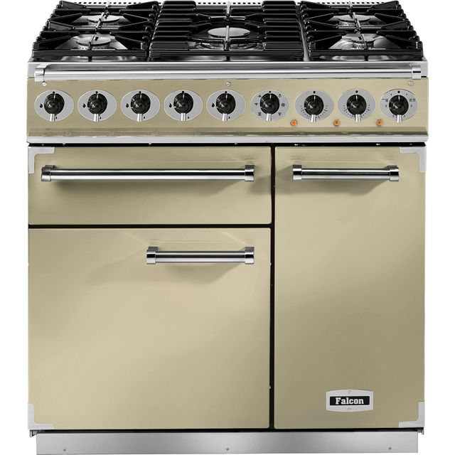 Falcon 900 DELUXE F900DXDFCR/CM 90cm Dual Fuel Range Cooker - Cream - A/A Rated - F900DXDFCR/CM_CR - 1