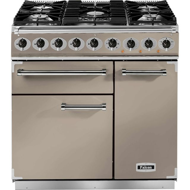 Falcon 900 DELUXE F900DXDFFN/NM 90cm Dual Fuel Range Cooker - Fawn - A/A Rated - F900DXDFFN/NM_FA - 1