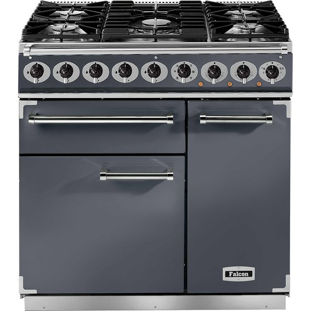 Falcon 900 DELUXE F900DXDFSL/NM 90cm Dual Fuel Range Cooker - Slate - A/A Rated - F900DXDFSL/NM_SL - 1
