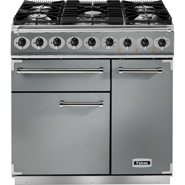 Falcon 900 DELUXE F900DXDFSS/CM 90cm Dual Fuel Range Cooker - Stainless Steel - A/A Rated - F900DXDFSS/CM_SS - 1