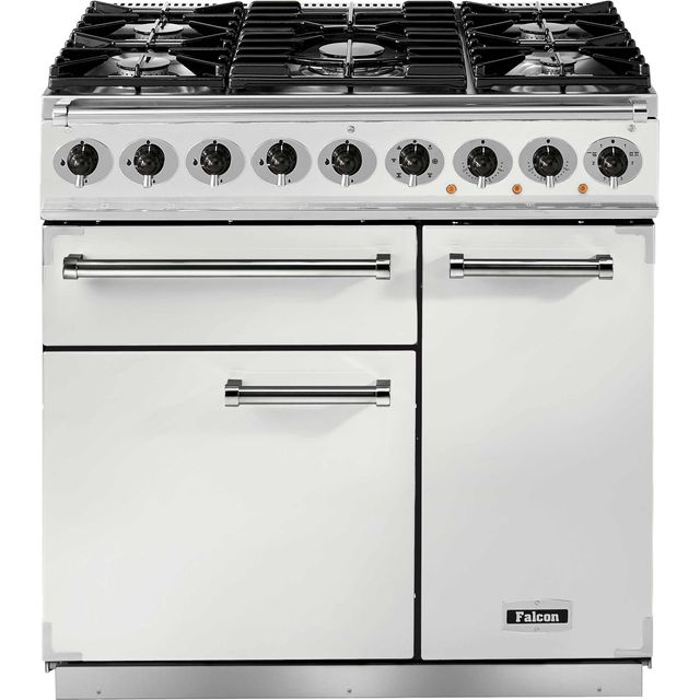 Falcon 900 DELUXE F900DXDFWH/NM 90cm Dual Fuel Range Cooker - White - A/A Rated - F900DXDFWH/NM_WH - 1