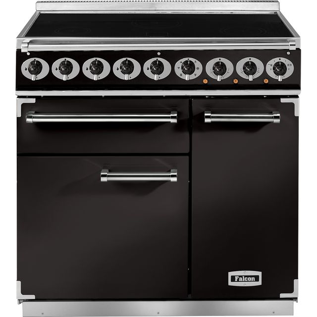 Falcon 900 DELUXE F900DXEIBL/C 100cm Electric Range Cooker with Induction Hob - Black - A/A Rated