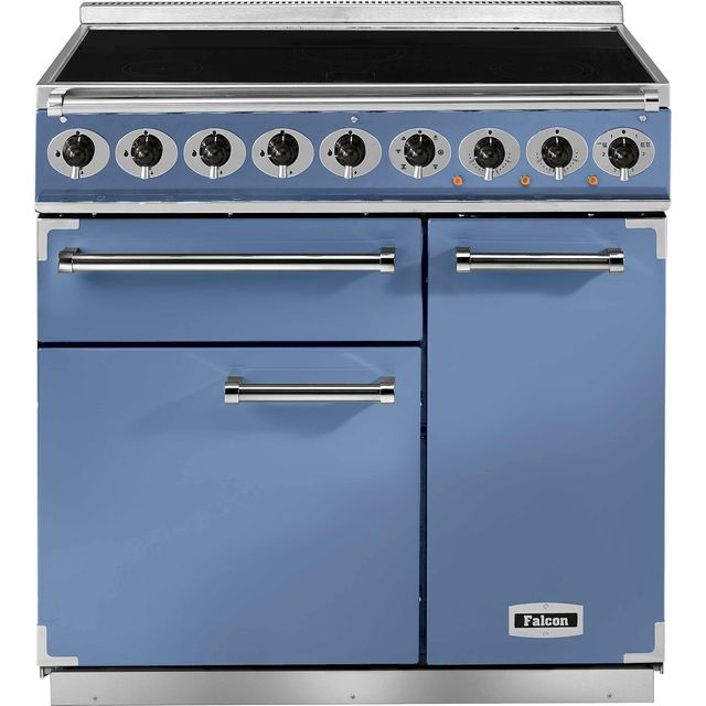 Falcon 900 DELUXE 90cm Electric Range Cooker with Induction Hob - China Blue - A/A Rated