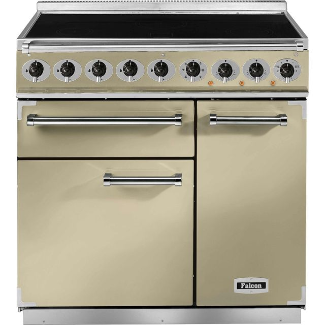 Falcon 900 DELUXE 90cm Electric Range Cooker with Induction Hob - Cream - A/A Rated