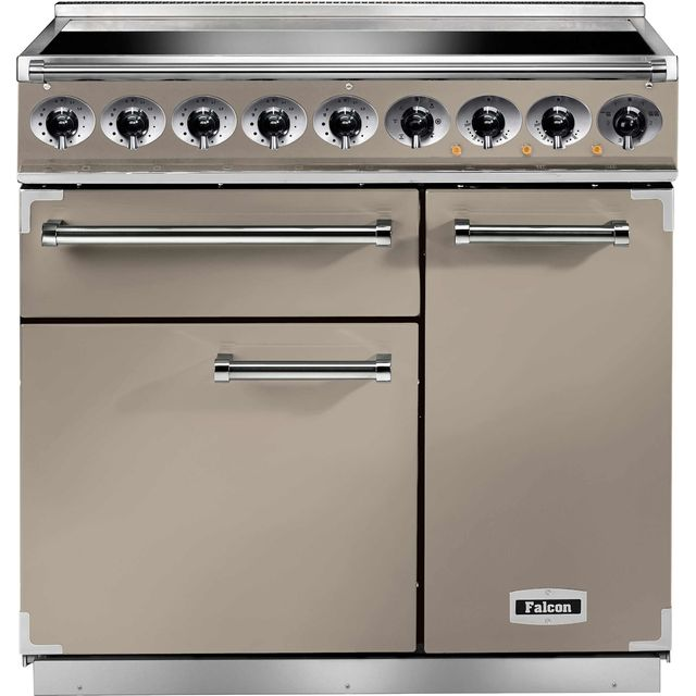 Falcon 900 DELUXE 90cm Electric Range Cooker with Induction Hob - Fawn - A/A Rated