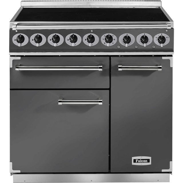 Falcon 900 DELUXE F900DXEISL/N 90cm Electric Range Cooker with Induction Hob - Slate - A/A Rated - F900DXEISL/N_SL - 1