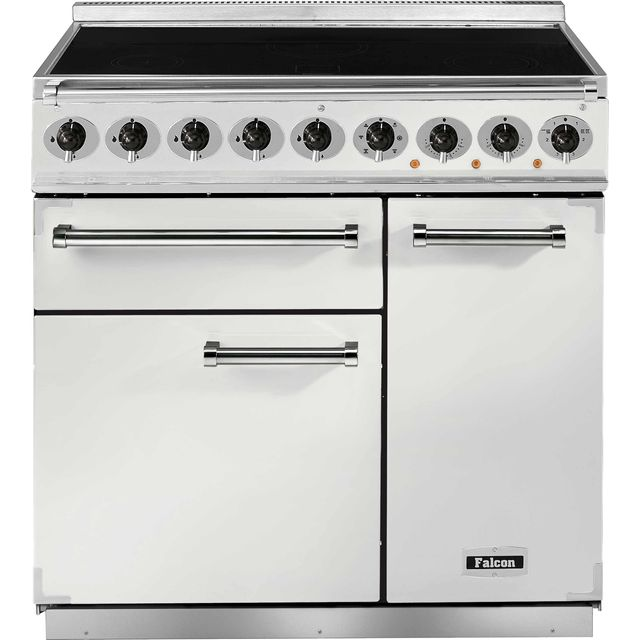Falcon 900 DELUXE F900DXEIWH/N 90cm Electric Range Cooker with Induction Hob - White - A/A Rated - F900DXEIWH/N_WH - 1