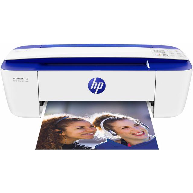 HP Deskjet 3760 Inkjet Printer - Blue / White