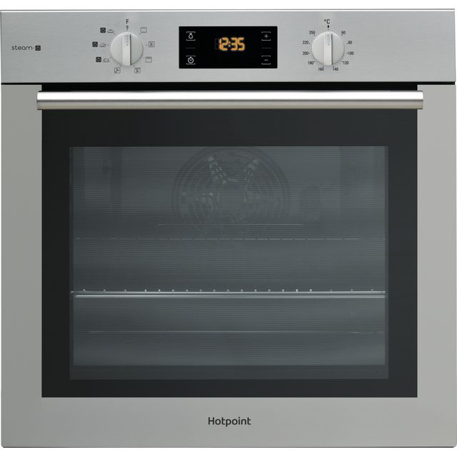 Image of Hotpoint ActiveCook FA4S544IXH Built In Electric Single Oven with added Steam Function - Stainless Steel - A Rated