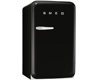 Smeg FAB10RNE Fridge with Ice Box - Black - A+ Rated