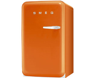 Smeg FAB10LO Fridge with Ice Box - Orange - A+ Rated - FAB10LO_OR - 1