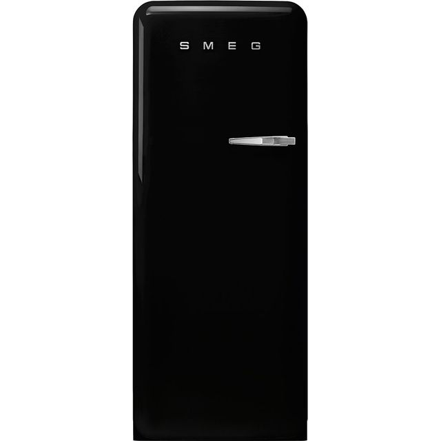 Smeg Left Hand Hinge FAB28LBL3UK Fridge - Black - A+++ Rated