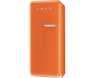 Smeg Left Hand Hinge FAB28YO1 Fridge with Ice Box - Orange - A++ Rated