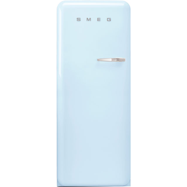 Smeg Left Hand Hinge FAB28LPB3UK Fridge - Pastel Blue - A+++ Rated