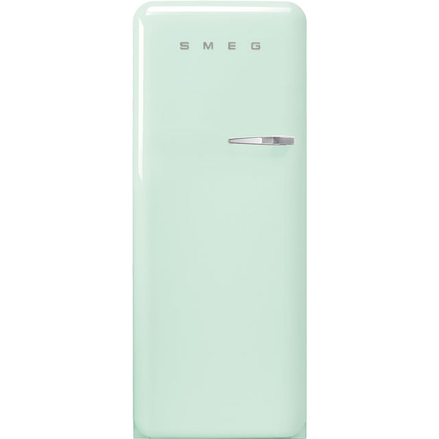 Smeg Left Hand Hinge FAB28LPG3UK Fridge - Pastel Green - A+++ Rated