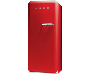 Smeg Left Hand Hinge FAB28YR1 Fridge with Ice Box - Red - A++ Rated
