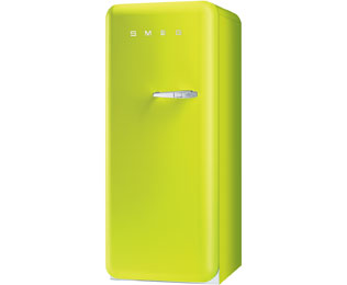 Smeg Left Hand Hinge FAB28YVE1 Fridge with Ice Box - Lime Green - A++ Rated