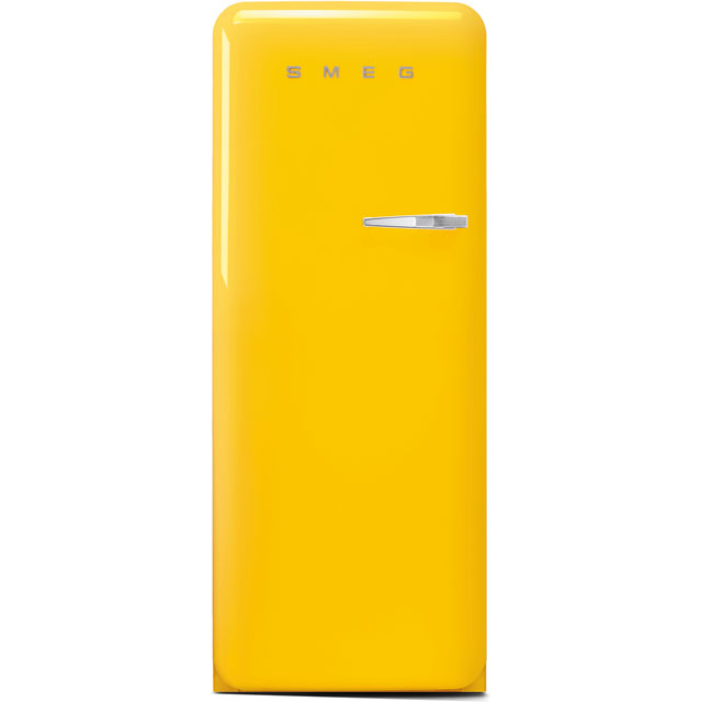 Smeg Left Hand Hinge FAB28LYW3UK Fridge - Yellow - A+++ Rated
