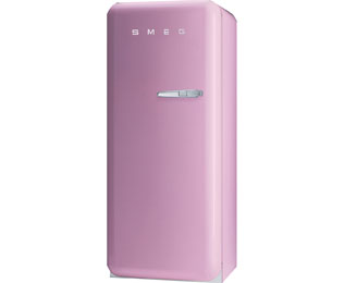 Smeg Left Hand Hinge FAB28YRO1 Fridge with Ice Box - Pink - A++ Rated