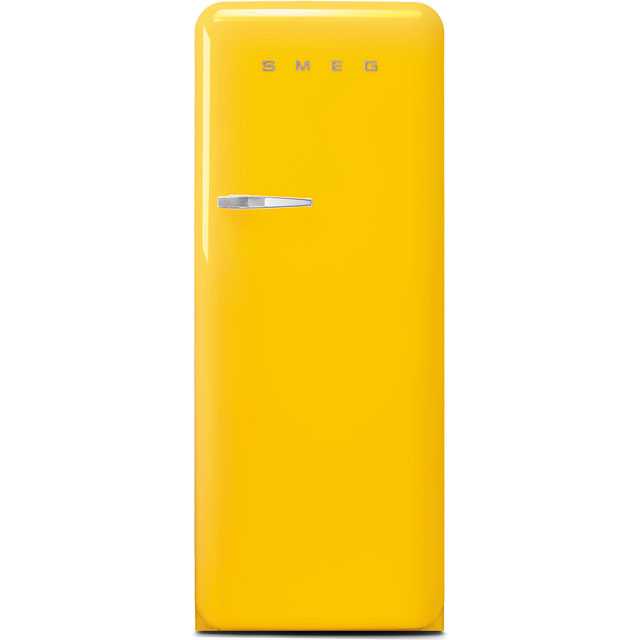 Smeg Right Hand Hinge FAB28RYW3UK Fridge - Yellow - A+++ Rated