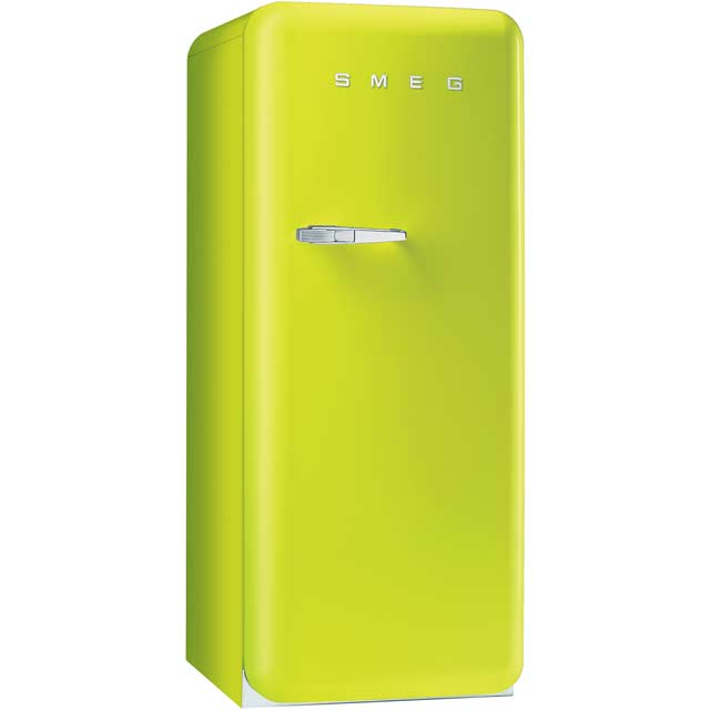 Smeg Right Hand Hinge FAB28QVE1 Fridge with Ice Box - Lime Green - A++ Rated