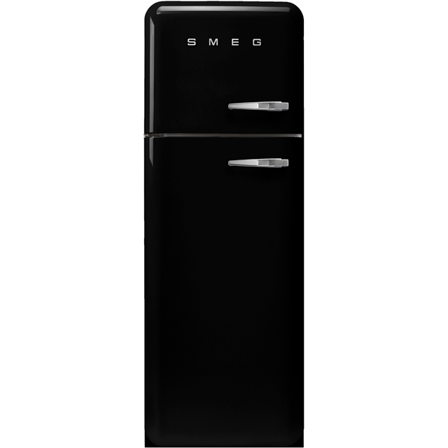 Smeg Left Hand Hinge FAB30LBL3UK 70/30 Fridge Freezer - Black - A+++ Rated - FAB30LBL3UK_BK - 1