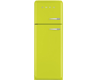 Smeg Left Hand Hinge 70/30 Fridge Freezer - Lime Green - A++ Rated